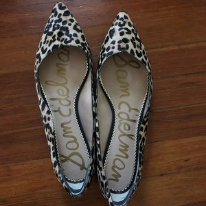 Sam Edelman Riza Leopard Print Flats - Size 13M